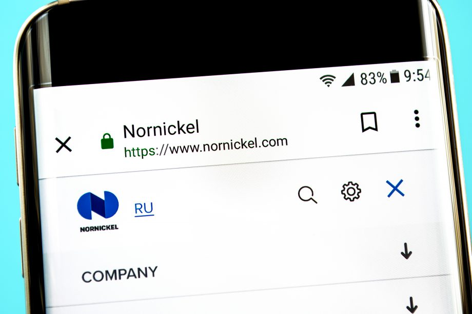 Nornickel on a Smartphone