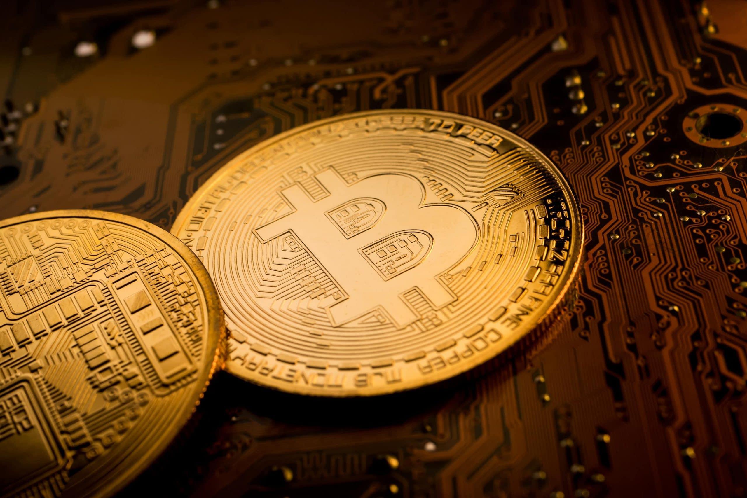 Bitcoin auf Platine