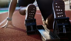 Sprinter in Startposition