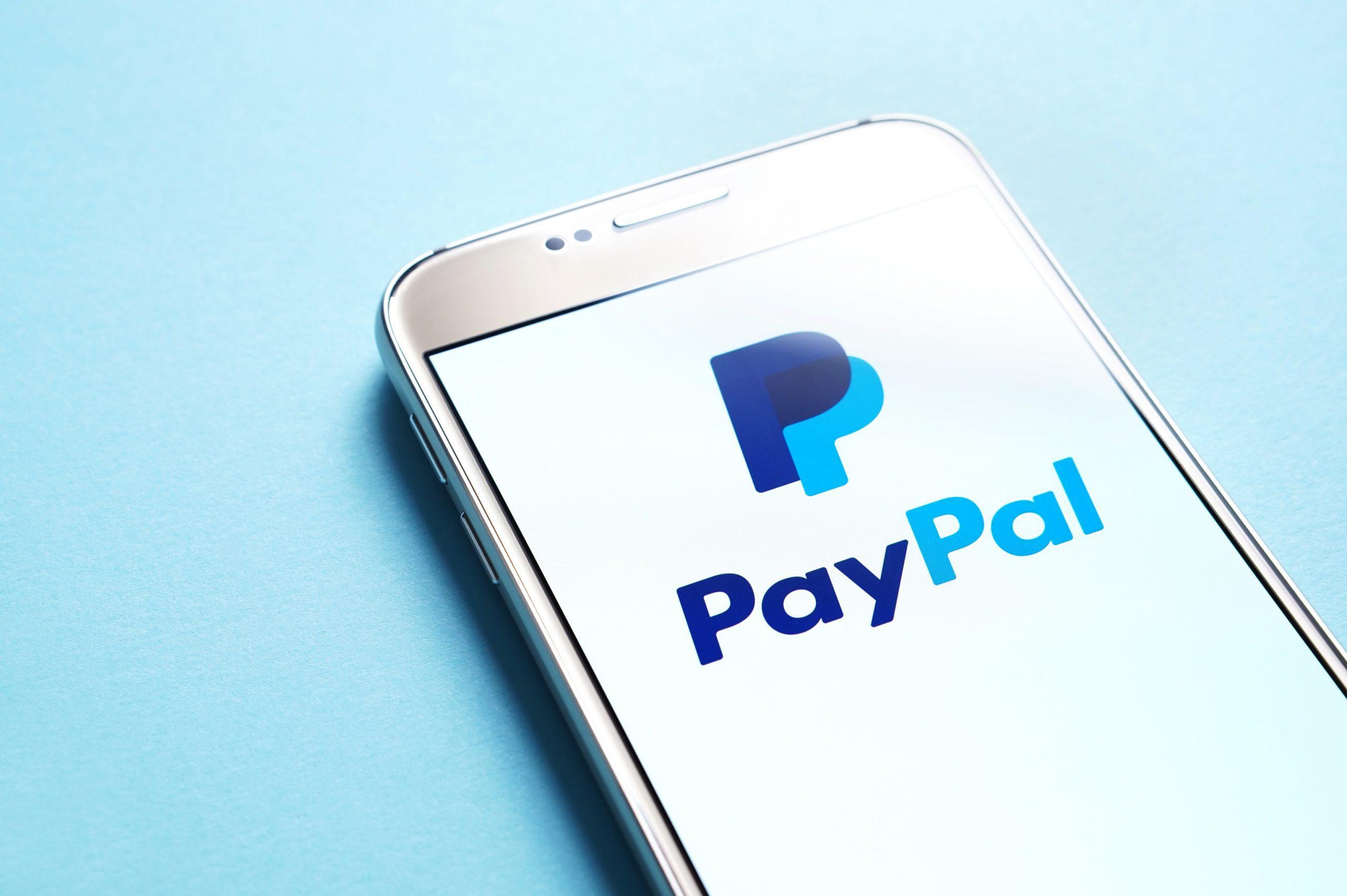 Das PayPal-Symbol auf einem Smartphone