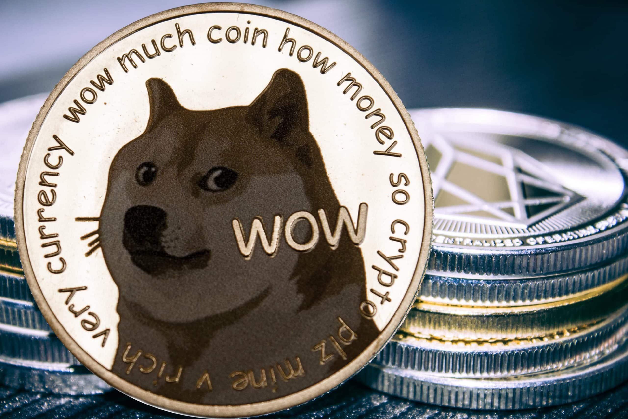 Dogecoin-Münzen