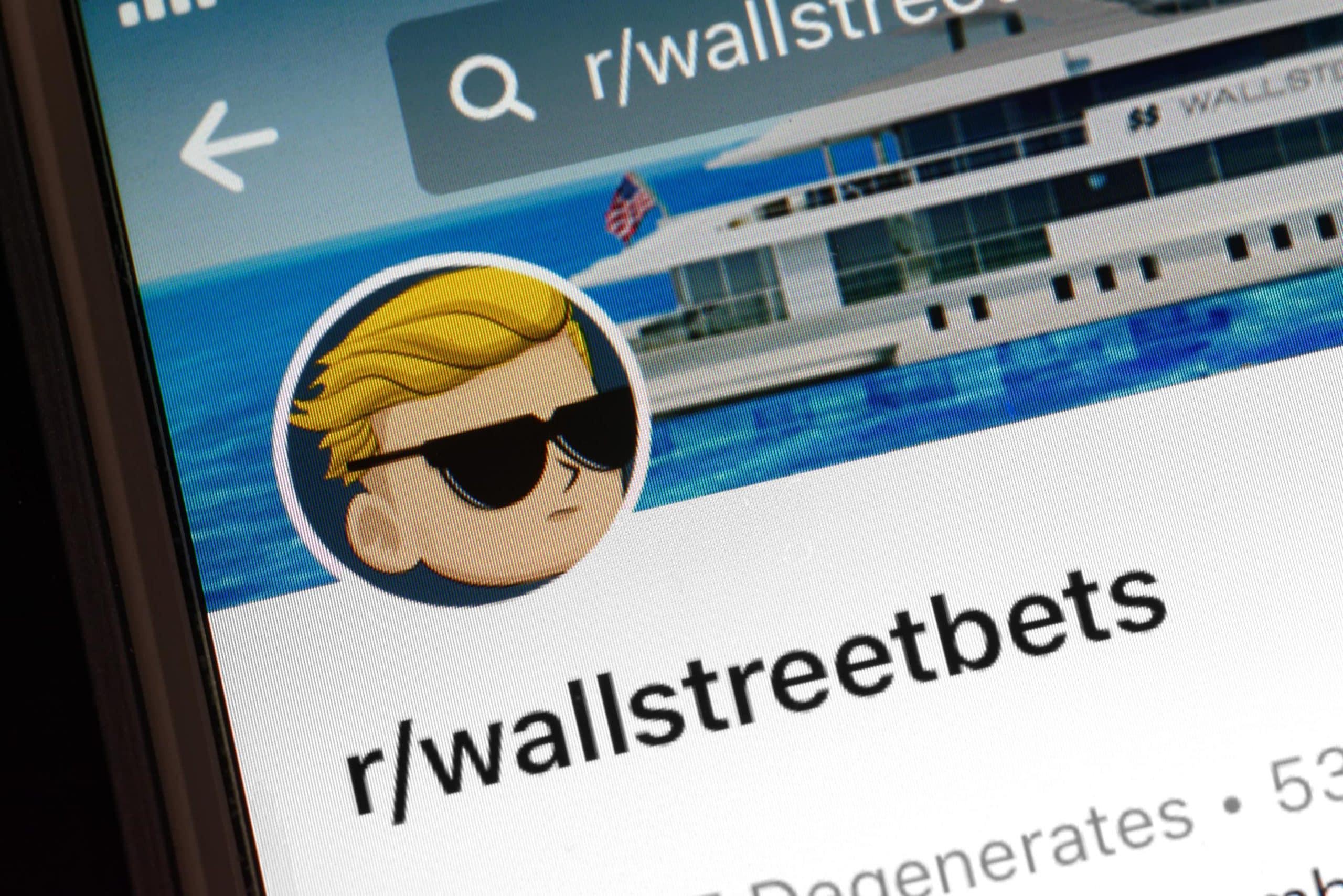 Ausschnitt von Wallstreetbets Logo