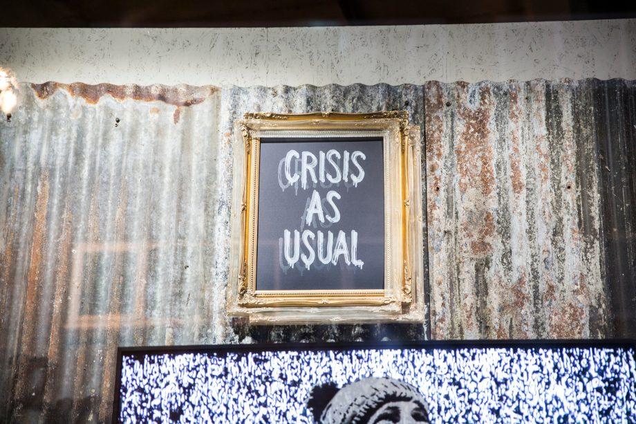 Banksy Bild in einer Galerie