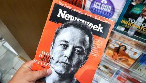 Elon Musk auf Cover einer Zeitschrift