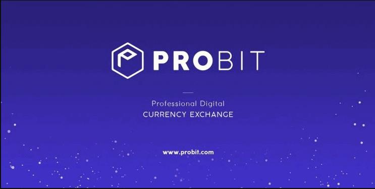 Logo von ProBit auf dunkelblauem Hintergrund.