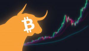 Bitcoin Bulle mit Chart