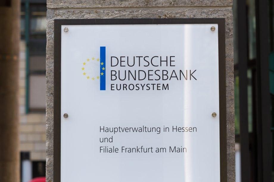 Schild der hessener Hauptverwaltung der Deutschen Bundesbank