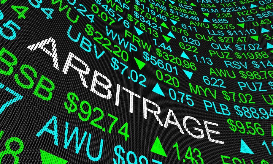 Eine Börsen-Tafel mit verschiedenen Werten. Mittig ist in weißen Buchstaben das Wort