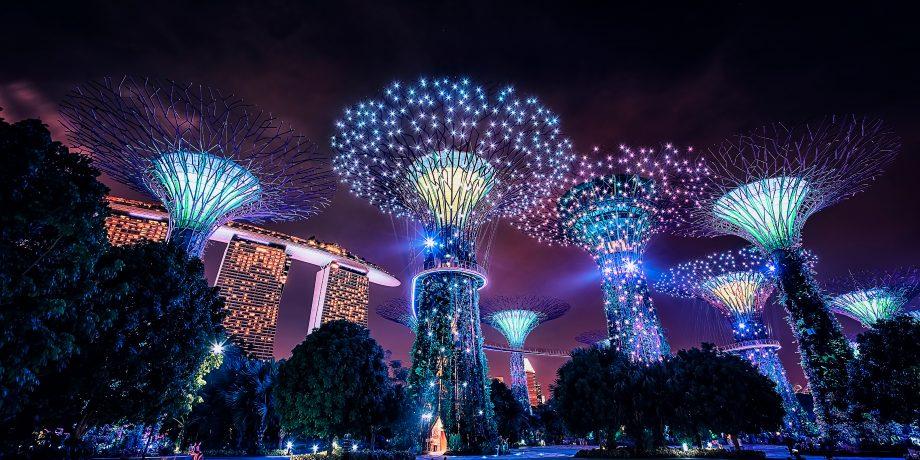 Der Hafen Singapurs