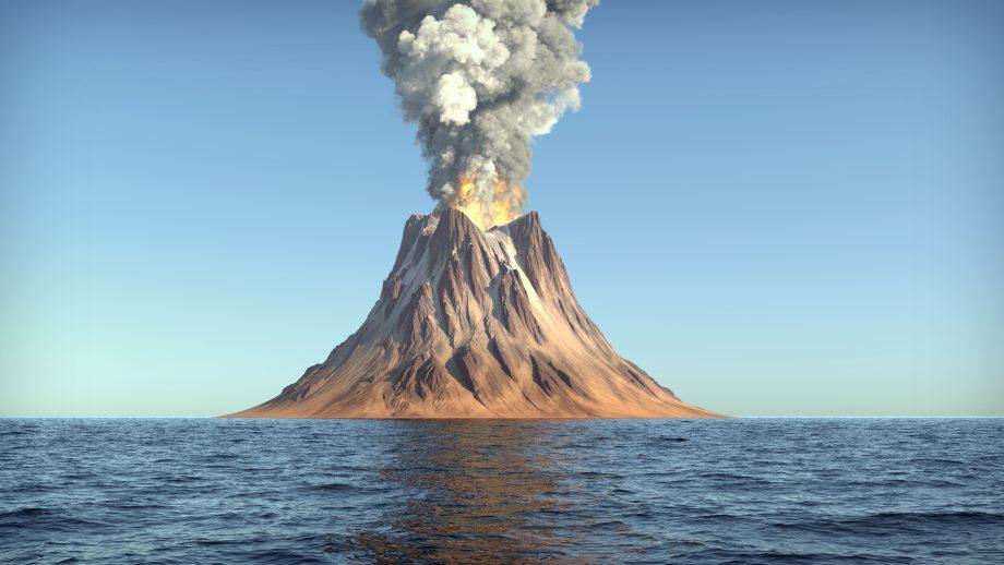 Vulkan vor dem Ausbruch Symbolbild Bitcoin-Kurs