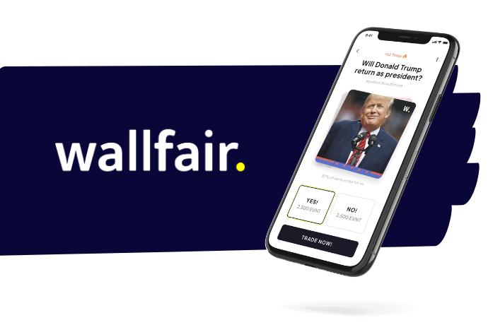 Donald Trump ist auf einem Smartphone abgebildet