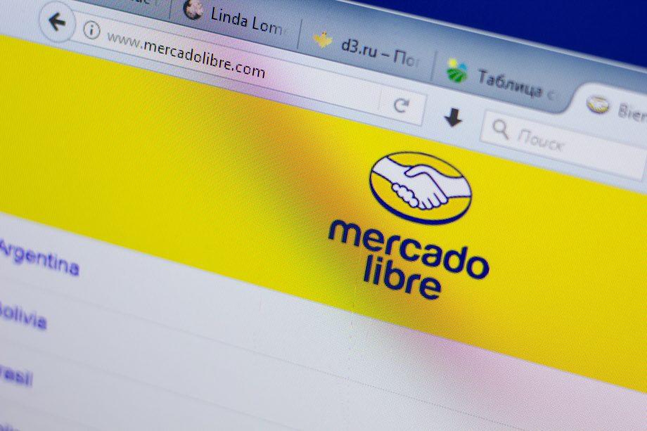 Die Homepage von MercadoLibre.