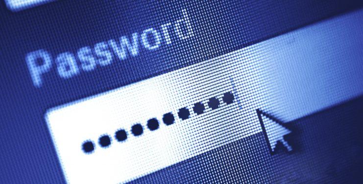 Auf einem Bildschirm ist ein Passwort-Eingabefeld zu sehen.