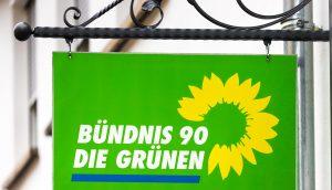 Das Logo der Partei: Bündnis 90 / Die Grünen.