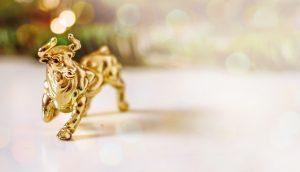 Ein goldener Bulle.