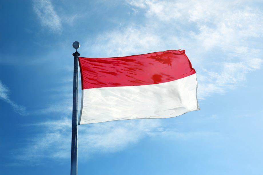 Die indonesische Flagge.