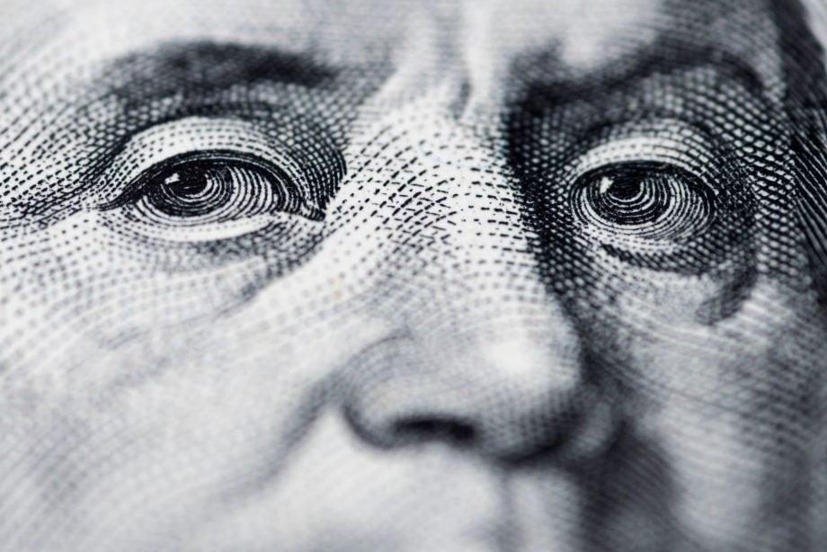 Nahaufnahme einer Dollarnote