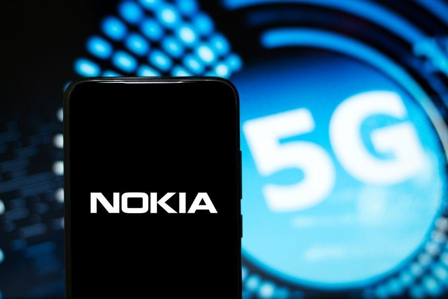 Nokia Logo auf einem Smartphone