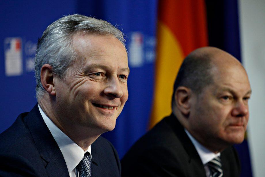 Die Finanzminister Frankreichs und Deutschlands. Bruno Le Maire und Olaf Scholz.