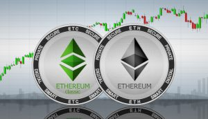 Ethereum,(eth),And,Ethereum,Classic,(etc),Coins,On,The,Background