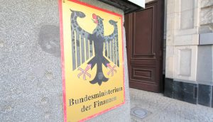 Das Wappen des Bundesfinanzministeriums.