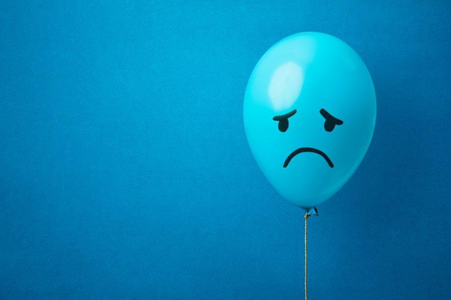 Ein trauriger Luftballon