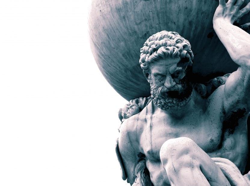 Atlas-Statue