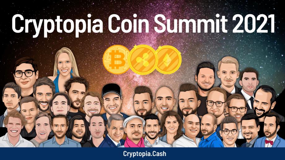 Ein Bild des Cryptopia Coin Summit 2021.