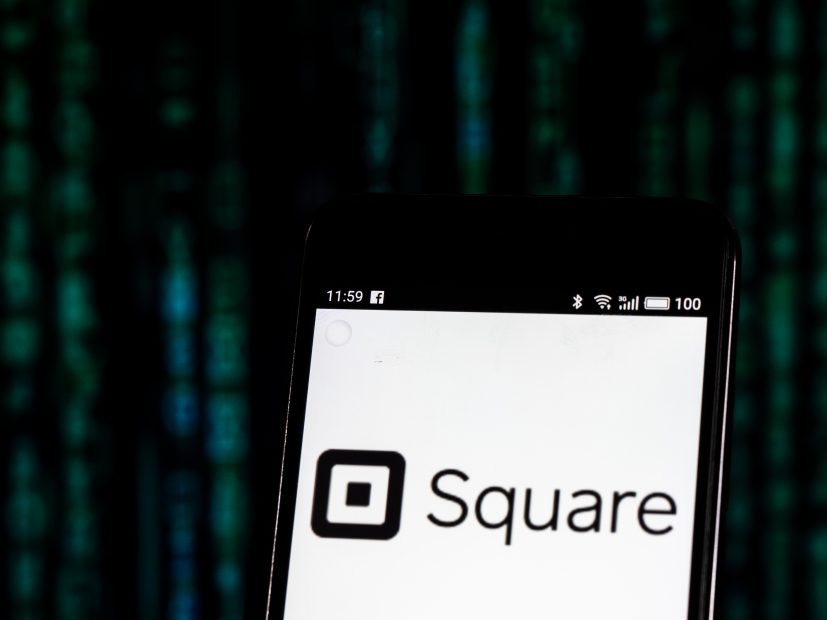Smartphone mit Square-Logo