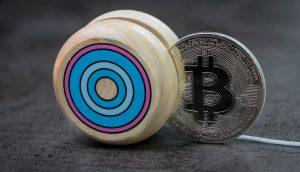Bitcoin Rebound (Symbolbild Bitcoin Yoyo)