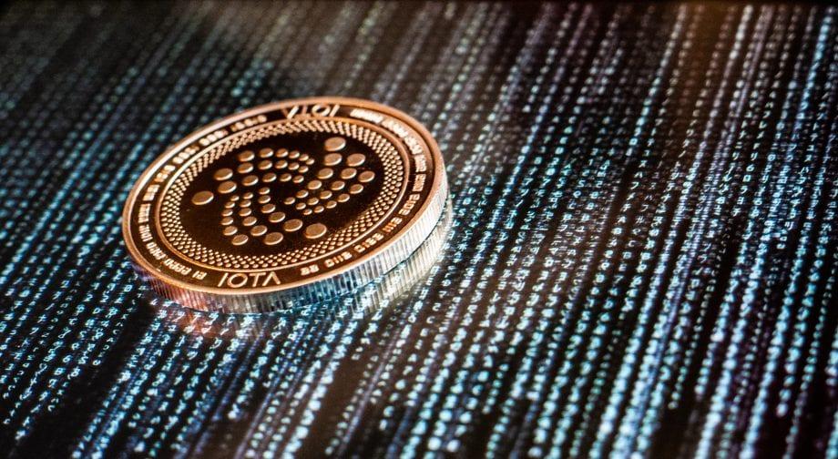 IOTA -Münze auf