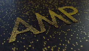 AMP in goldener Schrift