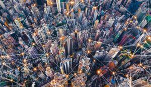 Symbolbild Blockchain, Energie und Mobilität