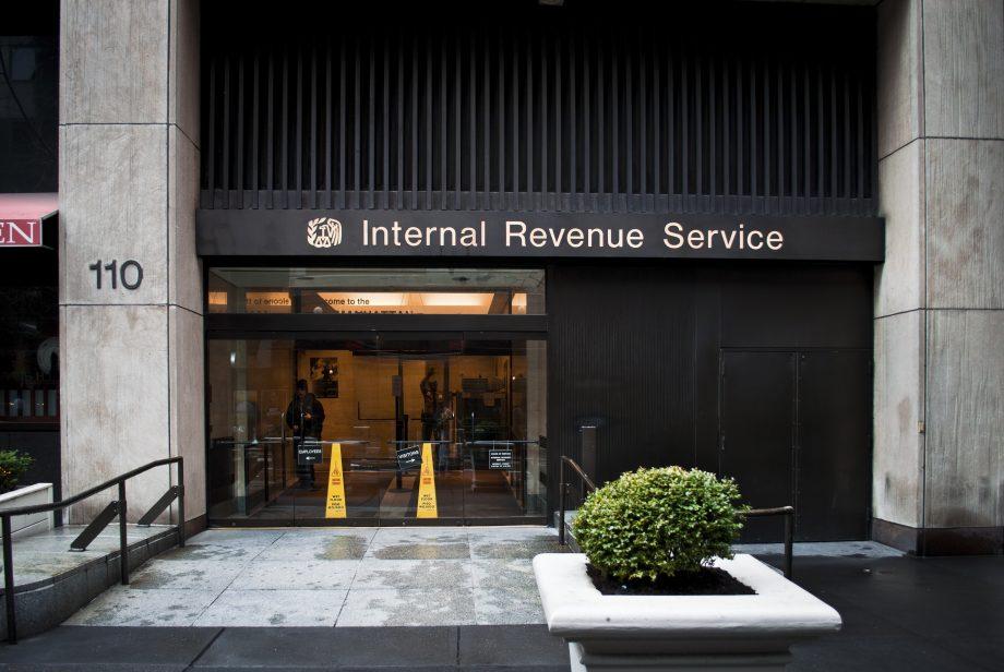 Ein Gebäude der Steuerbehörde IRS.