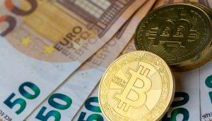 Euro und Bitcoin