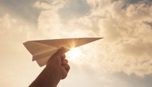 Ein Papierflieger