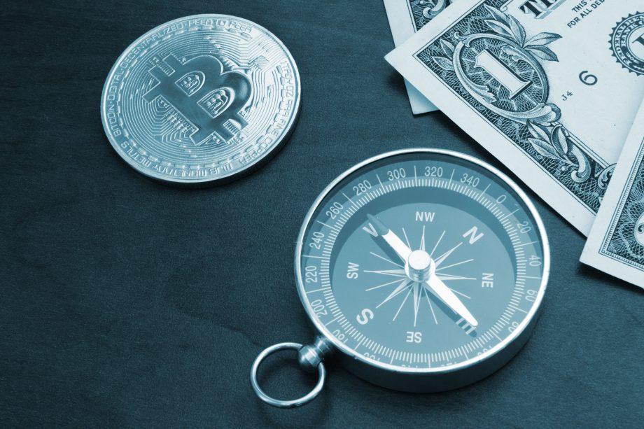 Bitcoin und Kompass