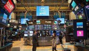 Die Innenräume der New York Stock Exchange.