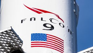 Eine Falcon 9 Rakete von SpaceX