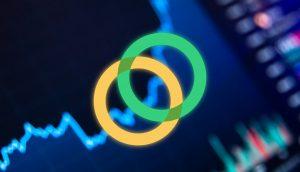 Der Kursverlauf von Celo mit dem Logo des Projekts.