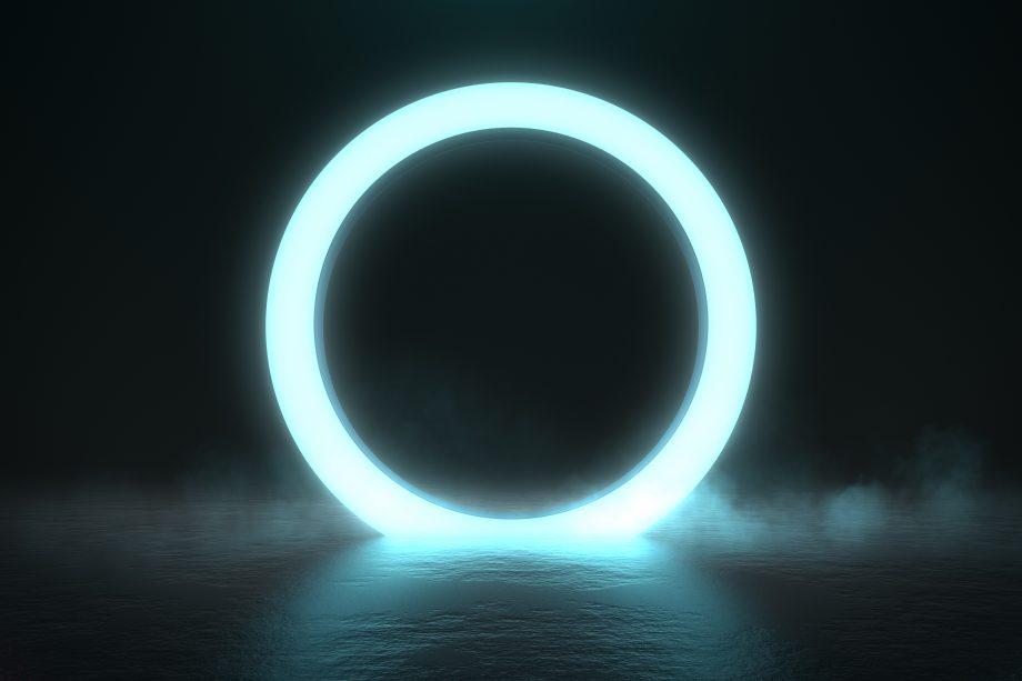 Ein Kreis aus Licht.