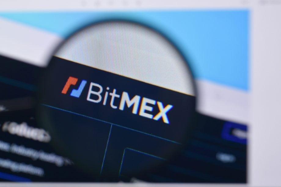 Logo von BitMEX auf einem Internet Browser