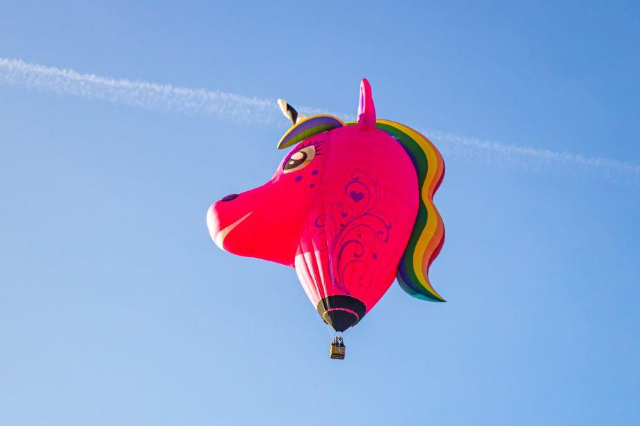 Ein Einhorn-Ballon