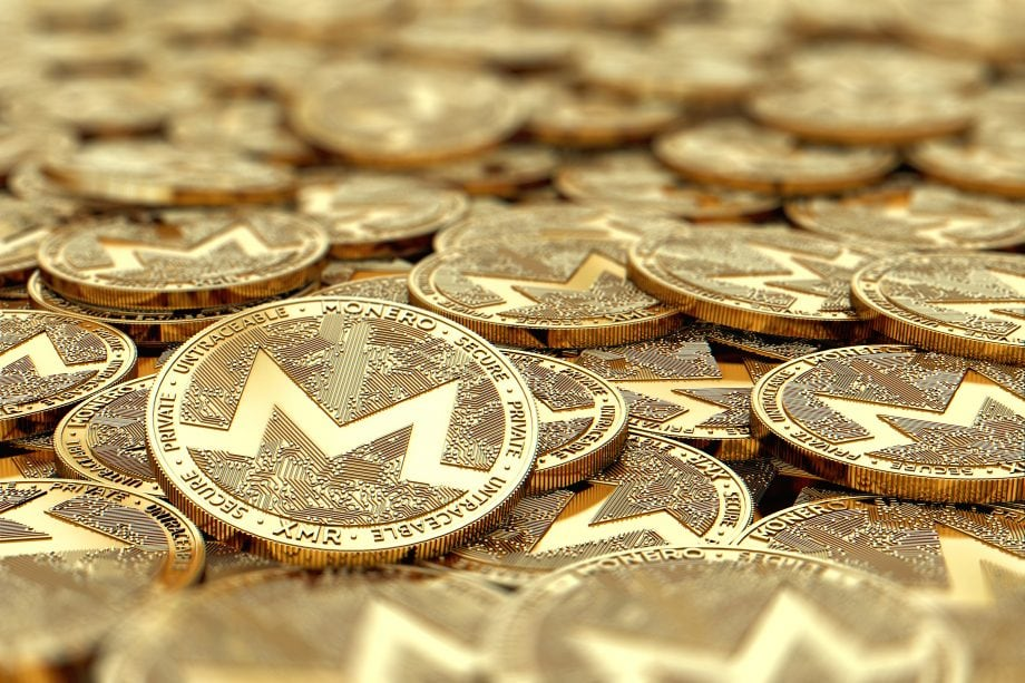 Ein Haufen von Monero-Münzen.