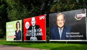 Wahlplakate zu den Bundestagswahlen