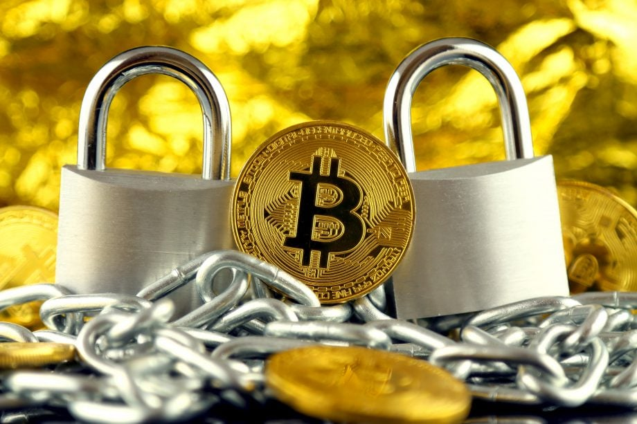 Bitcoin mit Schlössern