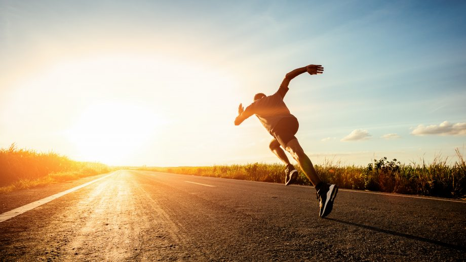 Läufer rennt