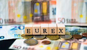 EUREX mit Buchstaben-Würfeln abgebildet