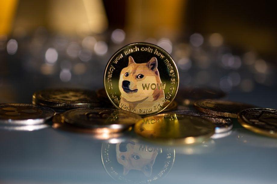 goldene Münze mit Hund