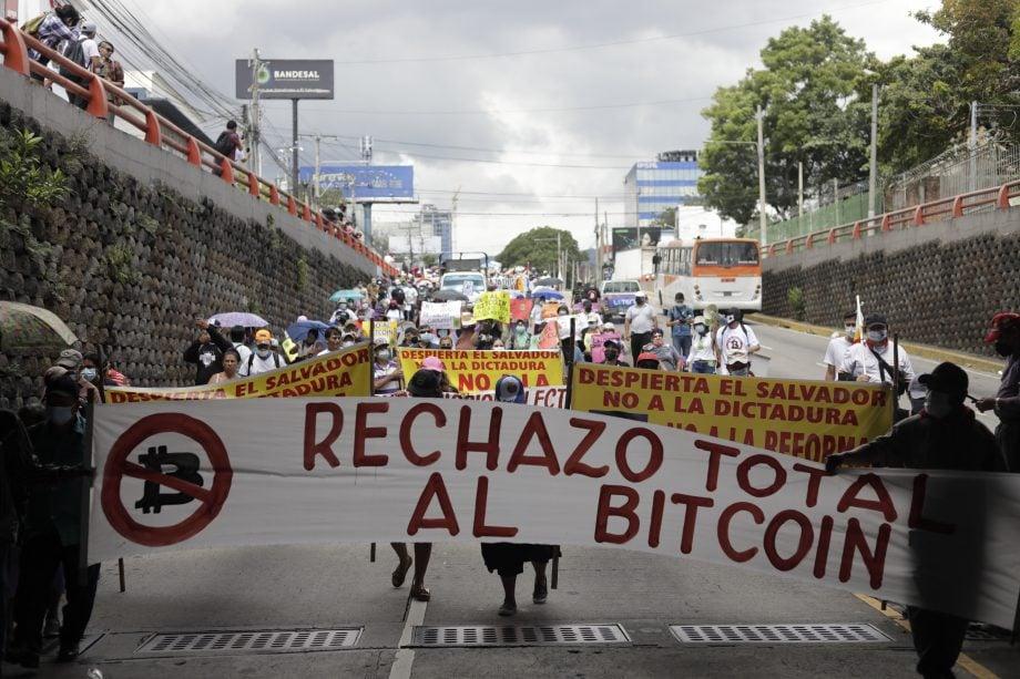 Demonstranten in El Salvador